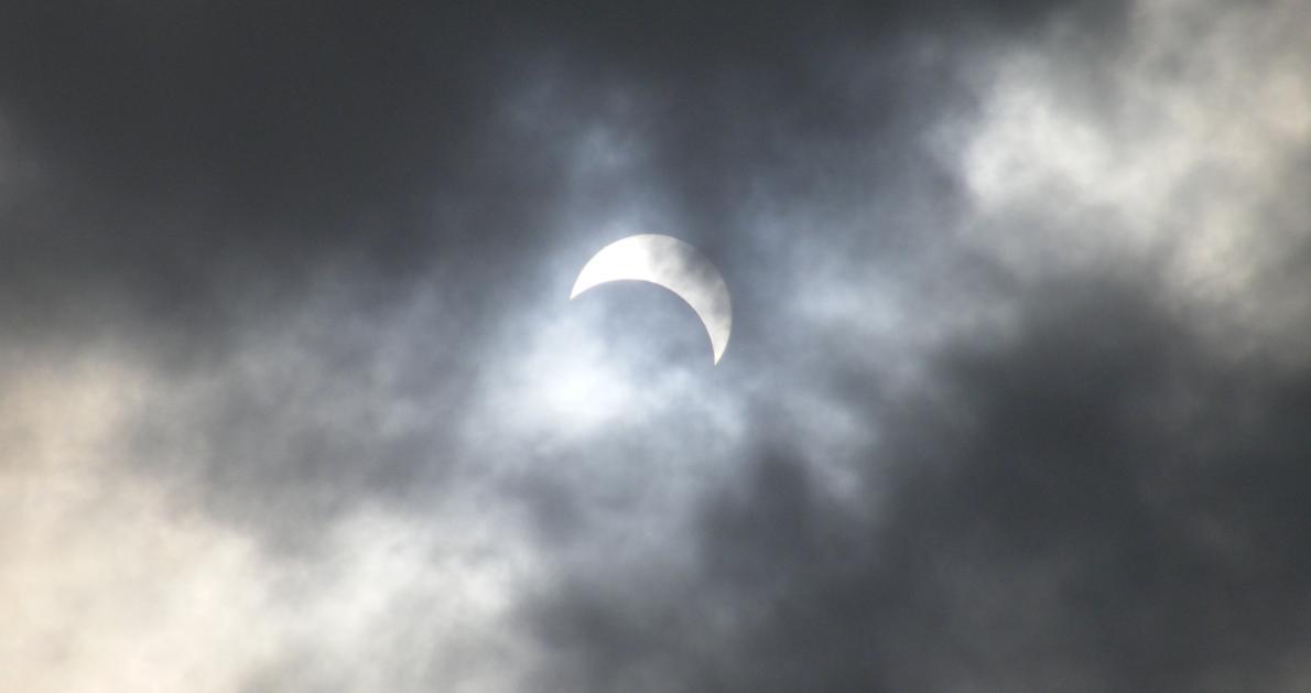 Solar eclipse in Kolkata, India