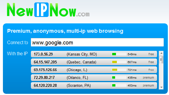 Free anonymouse web browsing proxy