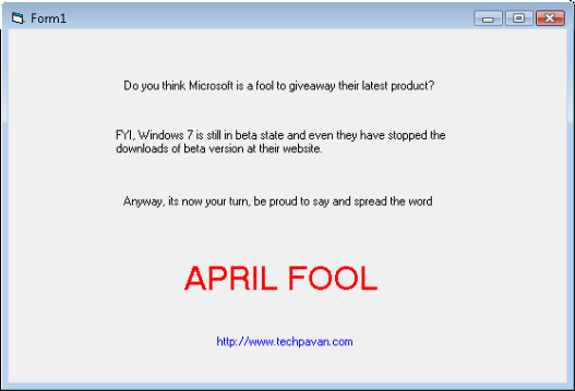 April Fool Conflicker Worm