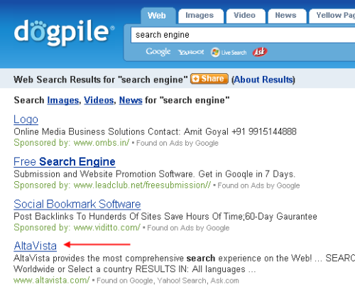 "Funny: What Search Engines Have To Say About ""Search Engine"""