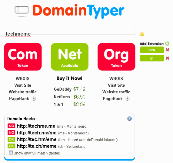 Ajax Domain Name Search Tool  Find Available Domains at Light Speed
