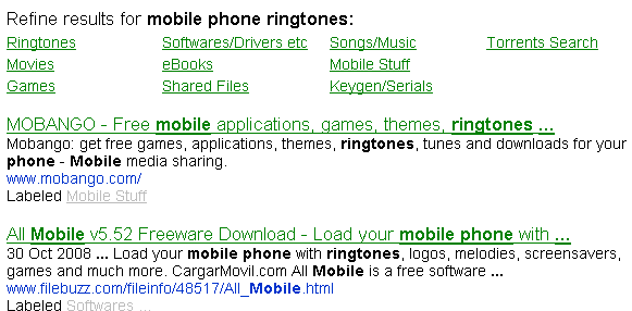 download options - ringtones, movies, games, softwares, books etc