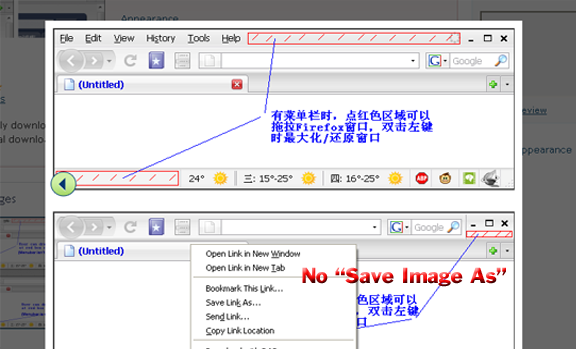 usage of lightbox in firefox addon site