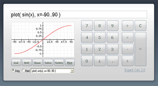 Online trigonometry calculator, convert values to sin, cos, tan.