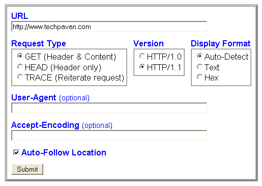 HTTP Viewer tool