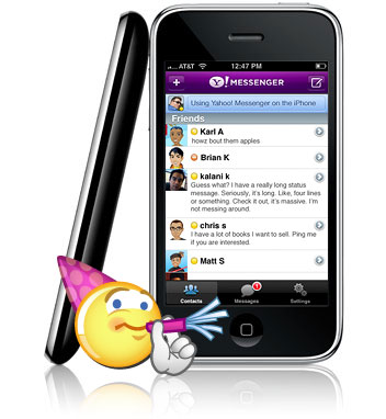 iPhone Yahoo Messenger