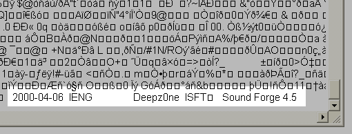 Image showing proof of Microsoft piracy of Sound Forge software from Deepz0ne