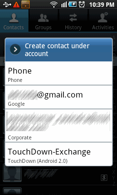 Restoring mobile phone contacts to Google Account