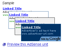 sample of selected ads