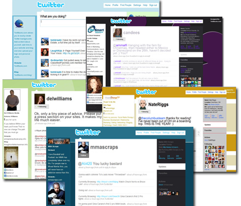Twitter themes templates samples