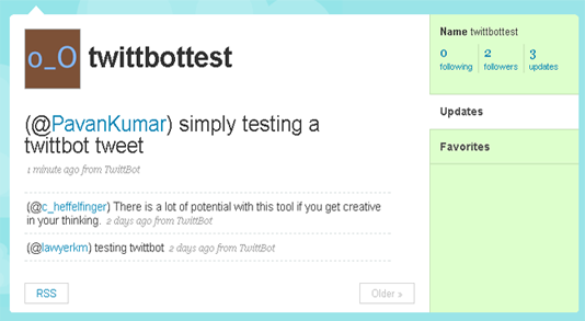 test update on twittbottest account