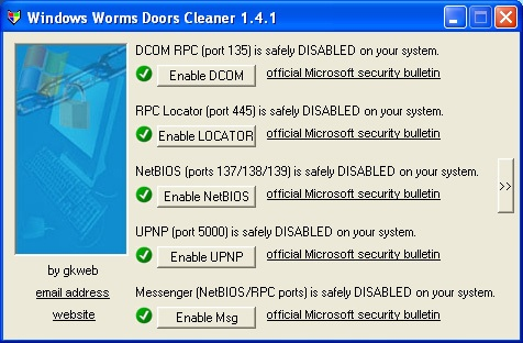 Windows worms doors cleaner