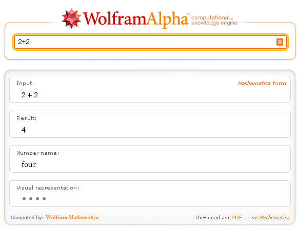 Find answers with wolfram Alpha