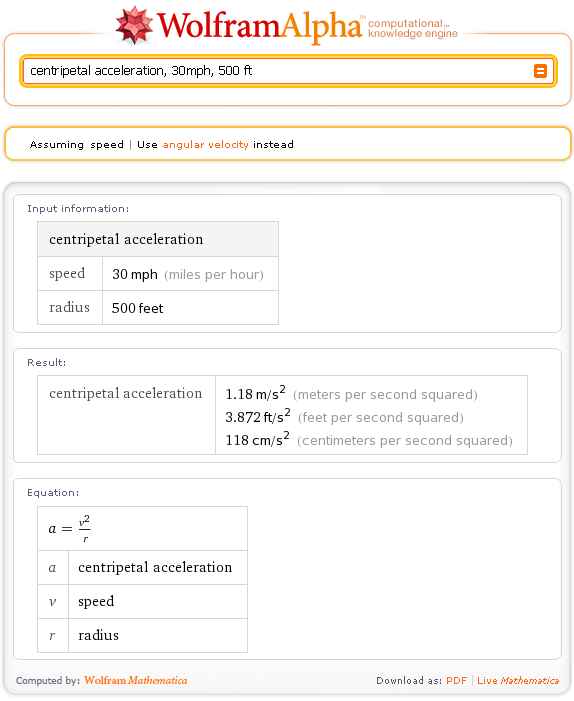 Calculate formulas, maths with wolfram alpha