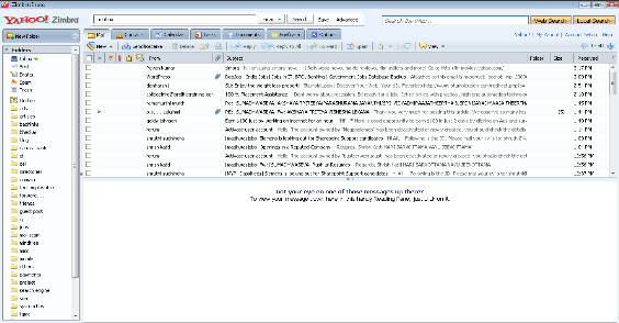 Mail Interface of Zimbra Desktop -review